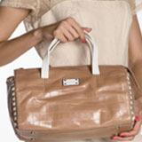 Как выпрямить сумку из кожзама?