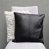Как сшить подушку из кожзама