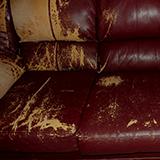 Ремонт мебели из кожзама