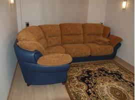 Обивка угловых диванов аккордеон